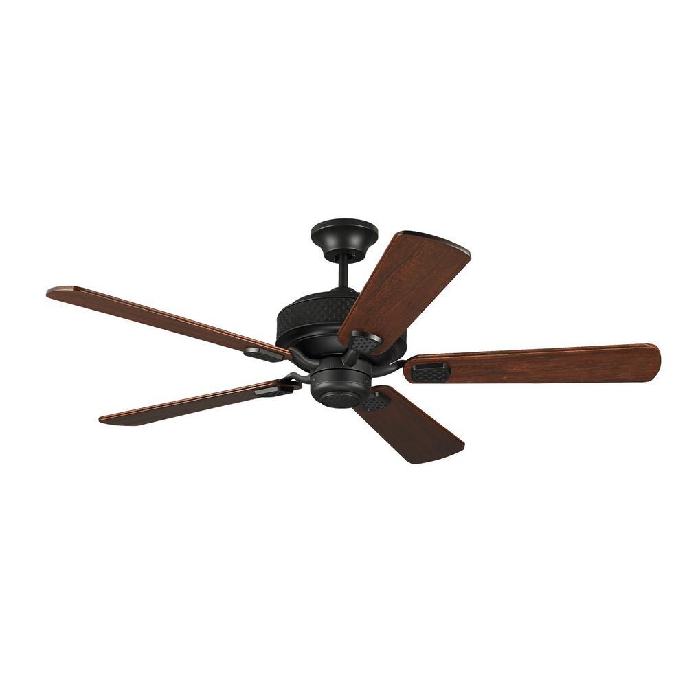espresso ceiling fan with bavarian walnut blades