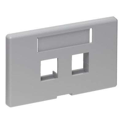 QuickPort 2-Port Modular Furniture Herman Miller Faceplate, Gray