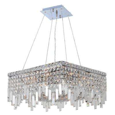 Cascade Collection 12-Light Polished Chrome and Clear Crystal Chandelier