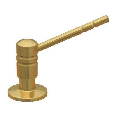 Kitchen Counter Soap Dispenser in Polished Brass