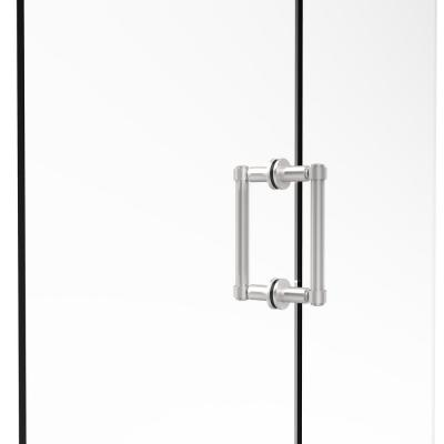 Contemporary 6 in. Back-to-Back Shower Door Pull in Satin Chrome
