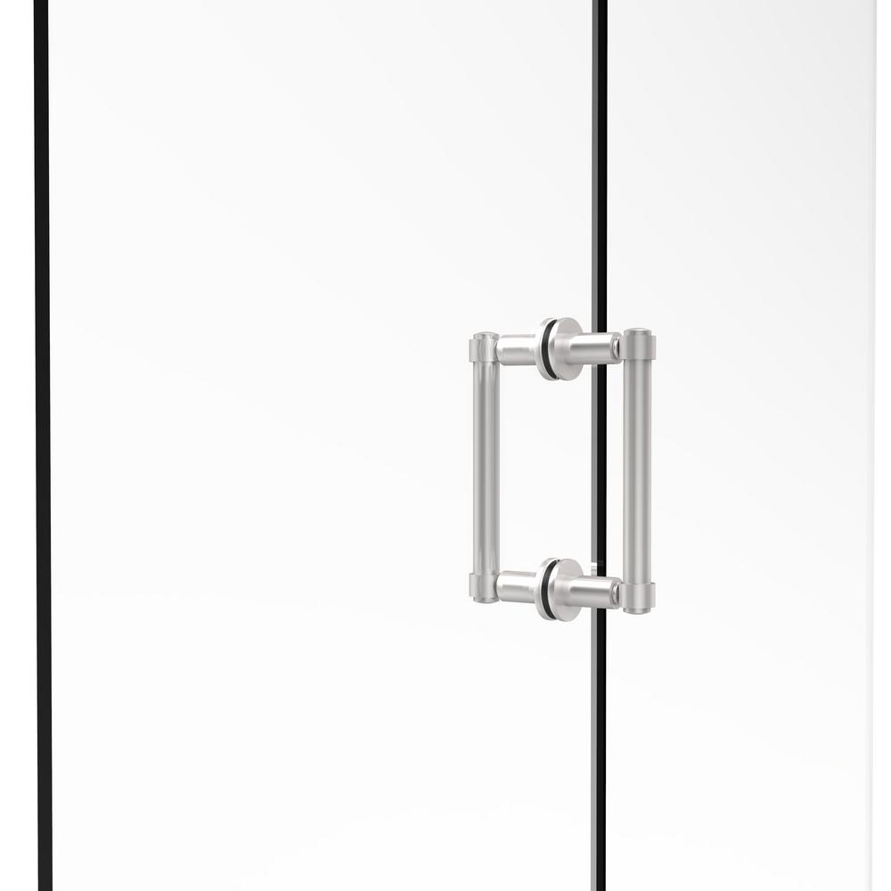 Allied Brass Contemporary 6 in. Back-to-Back Shower Door Pull in Satin Chrome