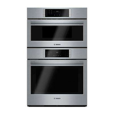 800 Series 30 in. Combo Electric Wall Oven with European Convection and Microwave in Stainless Steel with Touch Controls