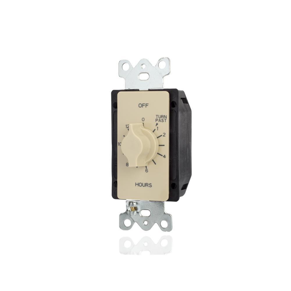 125-277-Volt 12-Hour SPDT Indoor Spring Wound Mechanical Twist Timer, Ivory
