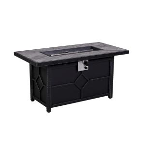 hampton bay 48 in rectangle gas fire pit srgf11604 the home depot. Black Bedroom Furniture Sets. Home Design Ideas
