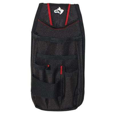 7-Pocket Black Utility Tool Pouch