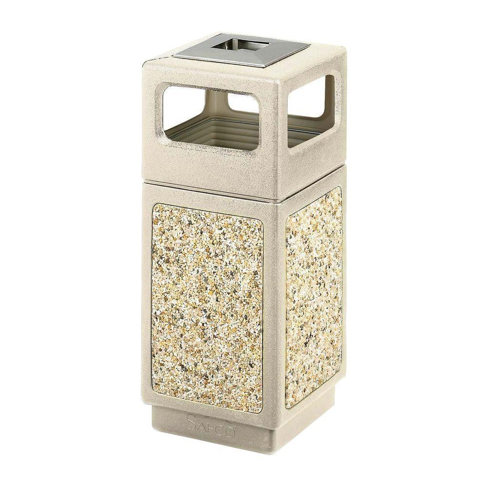 15 Gal. Canmeleon Waste Receptacle Ash/Urn Side Open