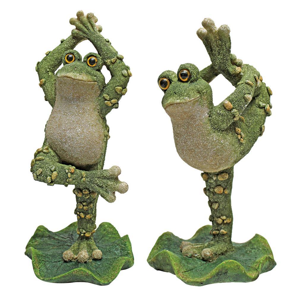 Boogie Down Dancing Frog Statue Set (2-Piece)