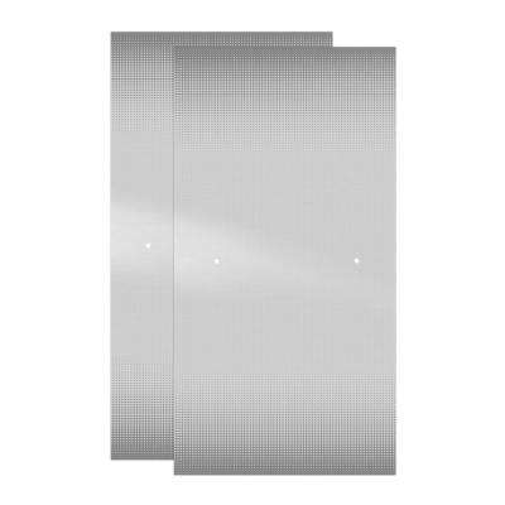 29-1/32 in. x 55-1/2 in. x 1/4 in. Frameless Sliding Bathtub Door Glass Panels in Droplet (1-Pair for 50-60 in. Doors)