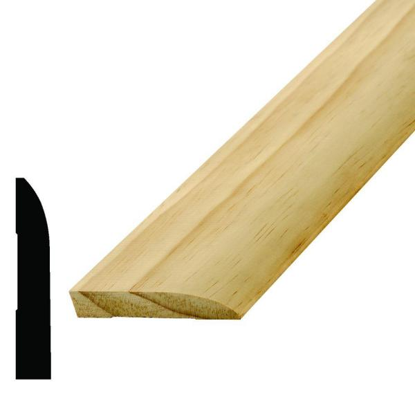 WM 713 9/16 in. x 3-1/4 in. x 96 in. Wood Pine Base Moulding