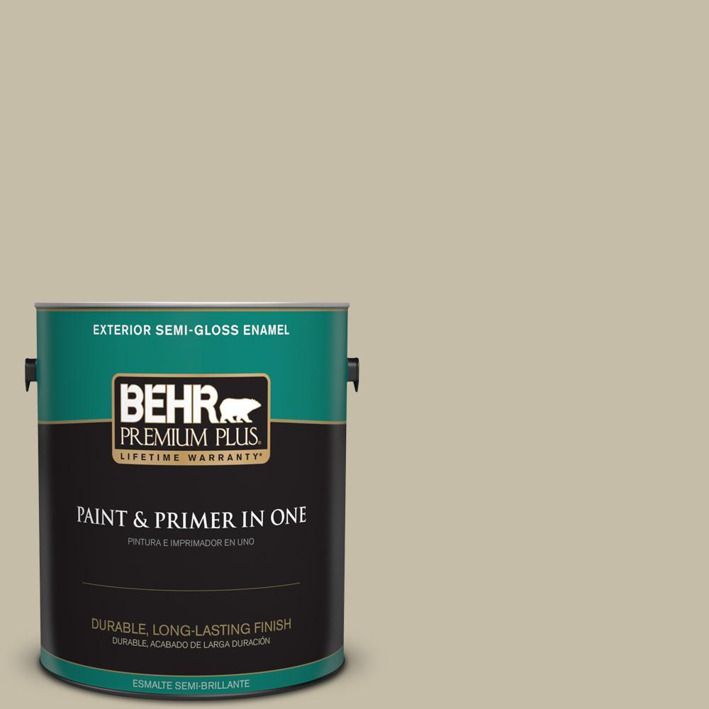1 gal. #PPU8-18 Celery Powder Semi-Gloss Enamel Exterior Paint