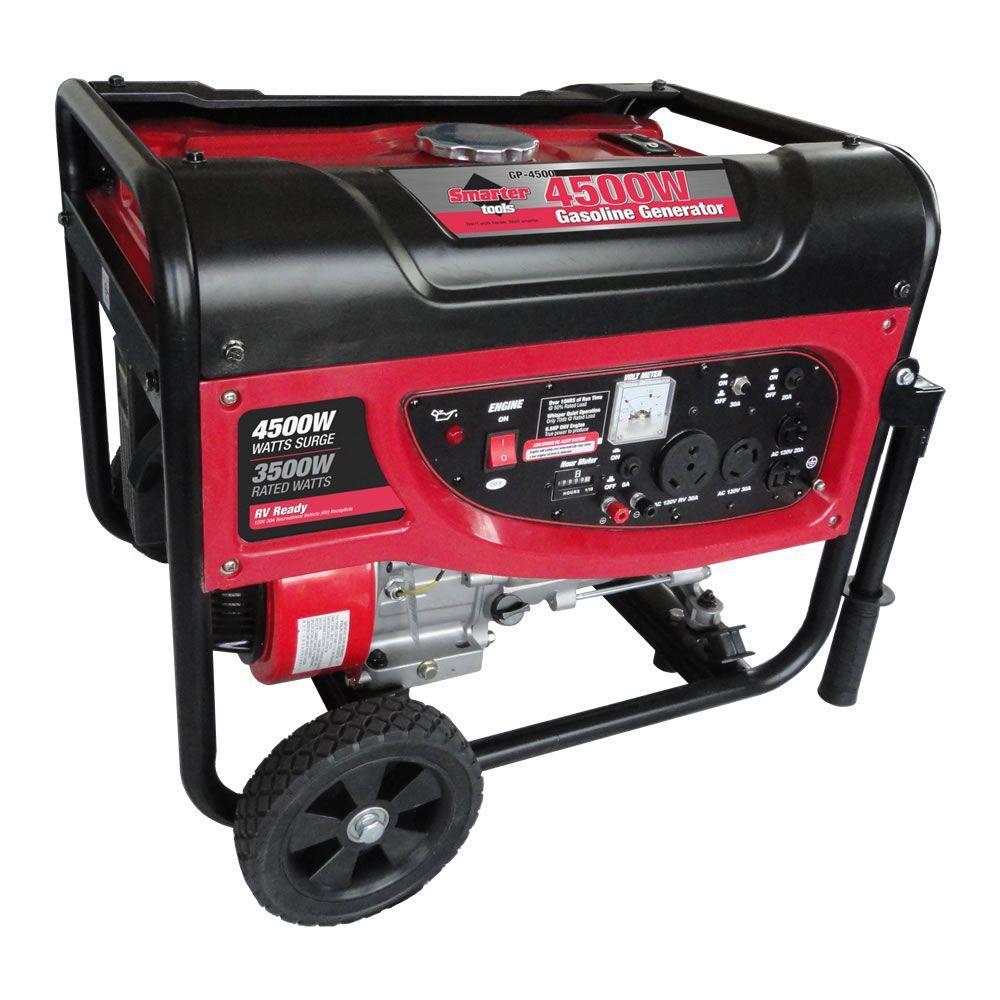 Smarter Tools GP4500 120-Volt 3,500 Continuous-Watt Portable Gasoline Generator