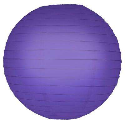 10 in. Round Purple Paper Lanterns (5-Count)