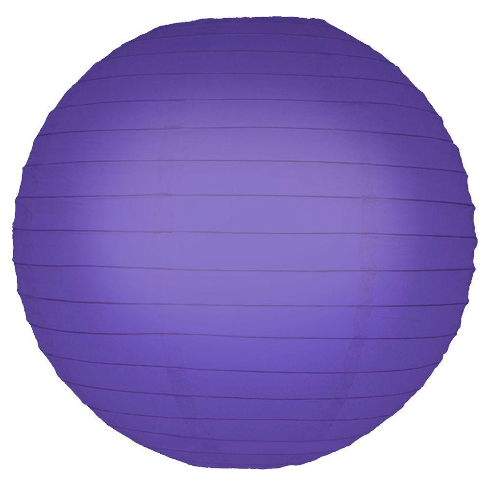 10 in. Round Purple Paper Lanterns (5-Count)