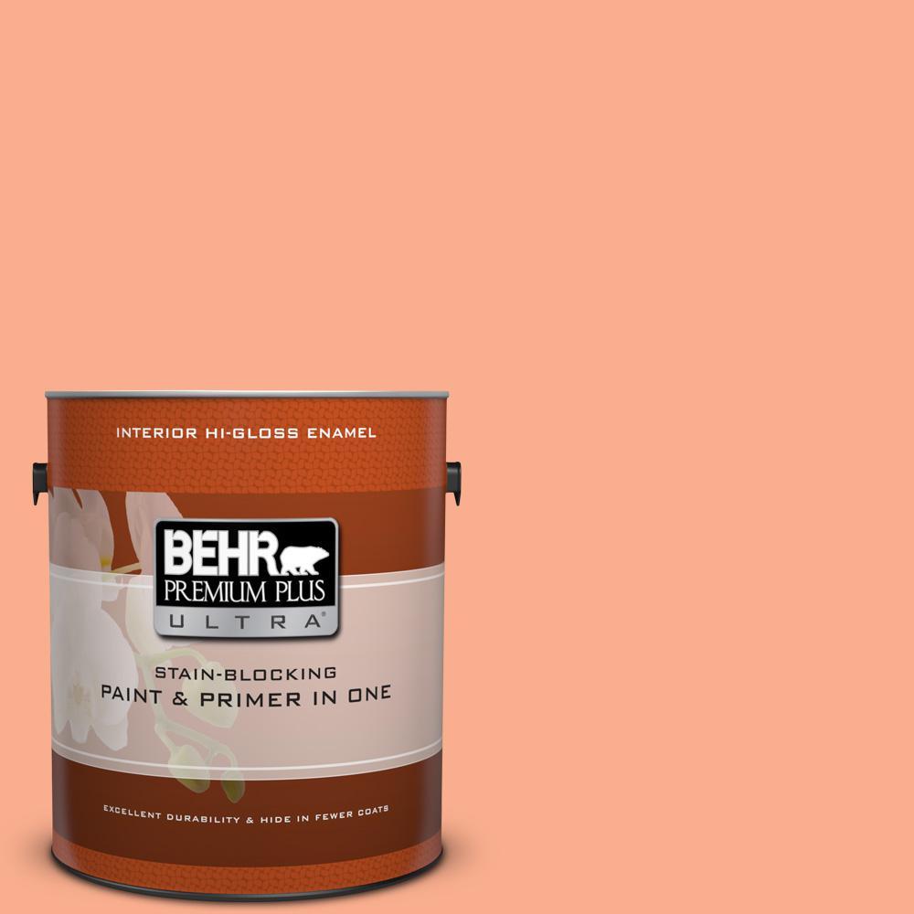 1 gal. #220B-4 Orange Grove Hi-Gloss Enamel Interior Paint