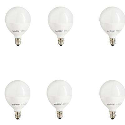 40-Watt Equivalent Warm White G16.5 Dimmable LED Light Bulb (6-Pack)