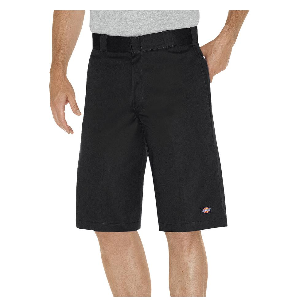 694b5d3364 Dickies Men 13 in. Relaxed Fit Black Multi-Pocket Work Short-WR640BK ...
