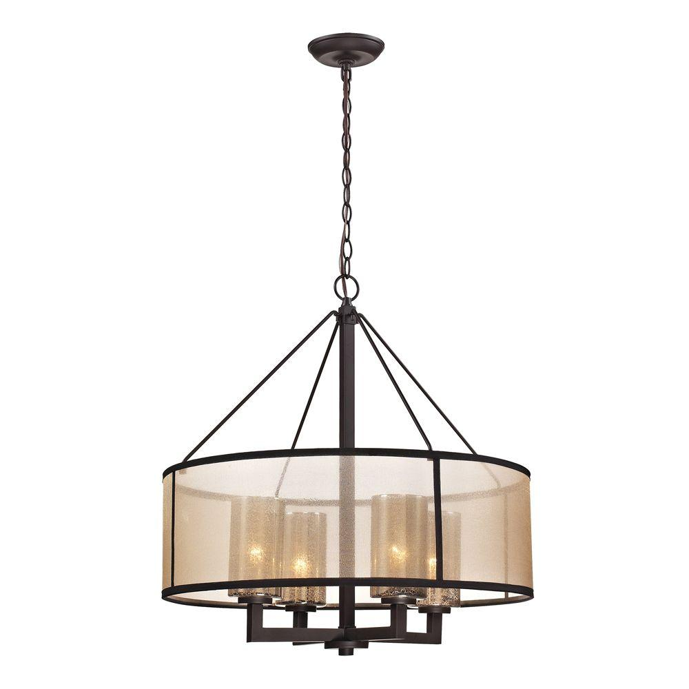 Titan Lighting Hearthstone Collection 4-Light Oil-Rubbed Bronze Chandelier