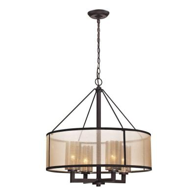 Hearthstone Collection 4-Light Oil-Rubbed Bronze Chandelier