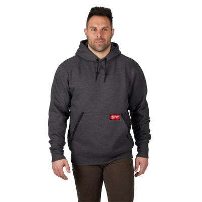 Men's 2XL Gray Heavy Duty Cotton/Polyester Long-Sleeve Pullover Hoodie