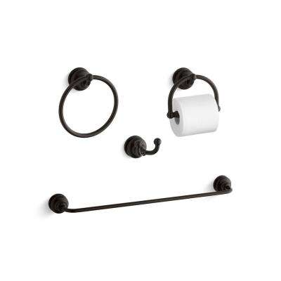 Fairfax 4-Piece Bath Accessory Set in Oil-Rubbed Bronze