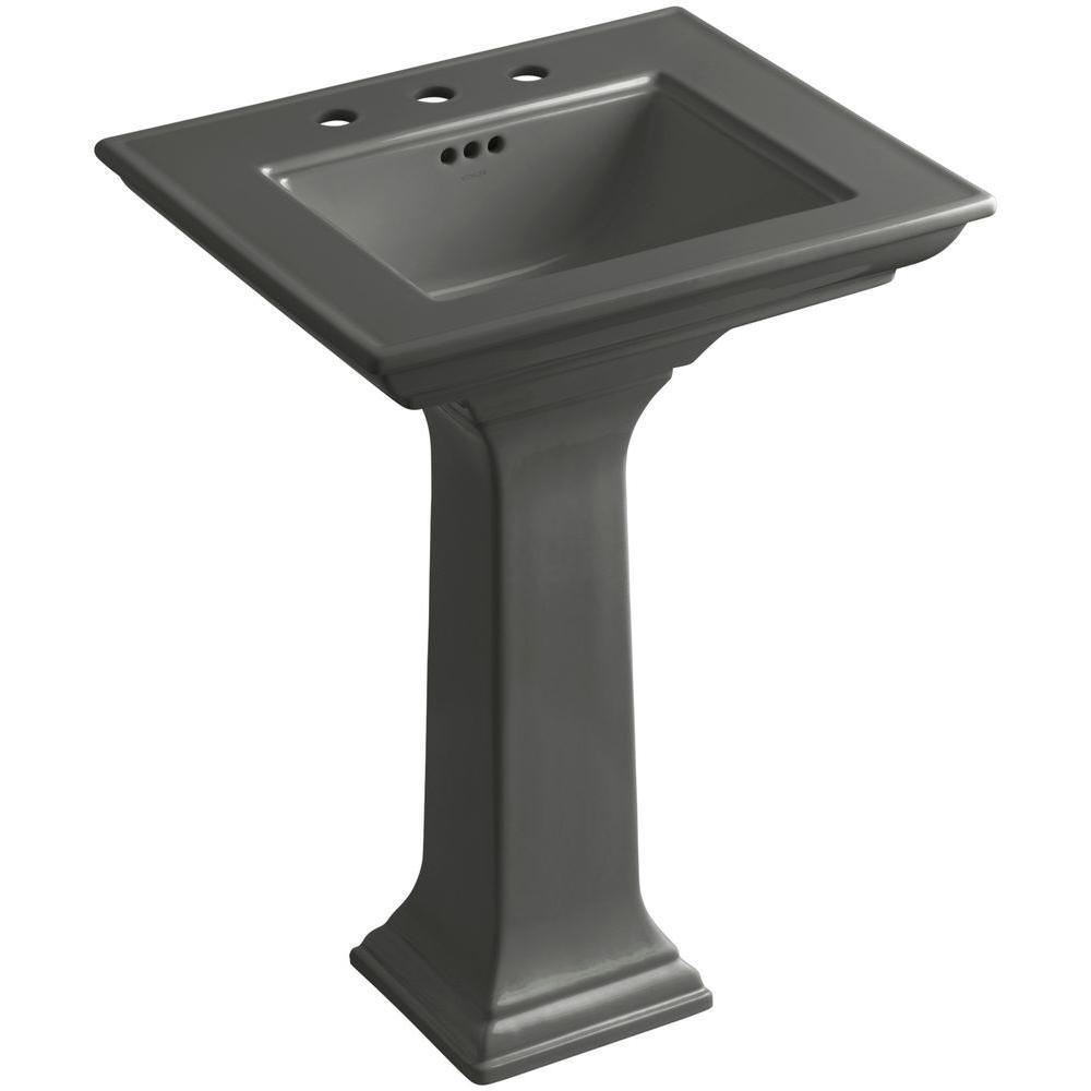KOHLER Memoirs Stately Ceramic Pedestal Bathroom Sink Combo in ...