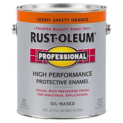 1 gal. High Performance Protective Enamel Gloss Safety Orange Oil-Based Interior/Exterior Paint (2-Pack)