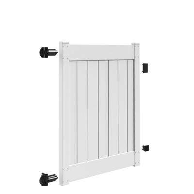 Linden 4 ft. W x 5 ft. H White Vinyl Un-Assembled Fence Gate