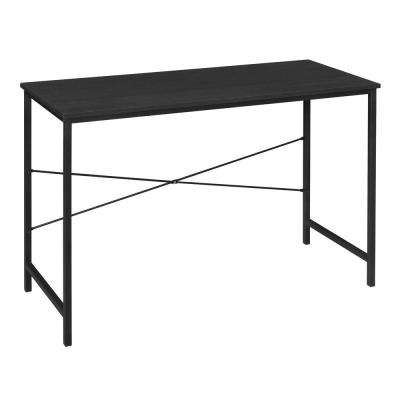 Soho Ebony Computer Desk with Reinforced Black Metal Frame