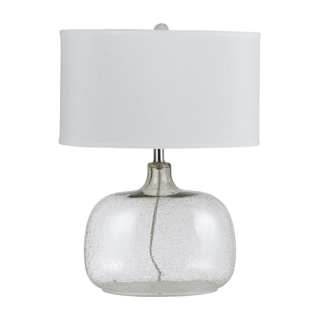 CAL Lighting 24.5 In. Bubbled Clear Glass Table Lamp With Shade