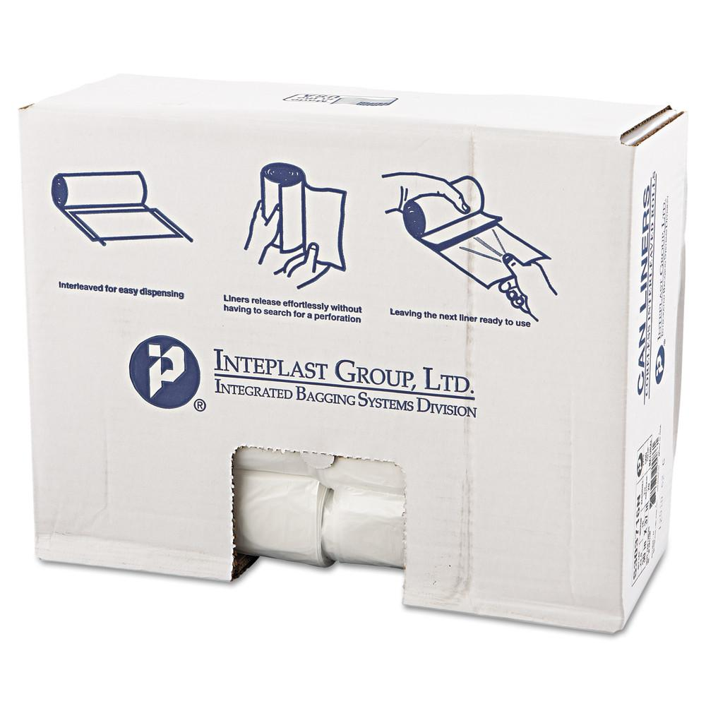 30 Gal. Clear High-Density Can Liner (25/Roll, 20-Rolls/Carton)