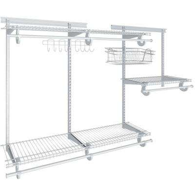Shelftrack 13 in. D x 72 in. W x 84 in. H White Fixed Mount Ventilated Wire Reach in Closet System