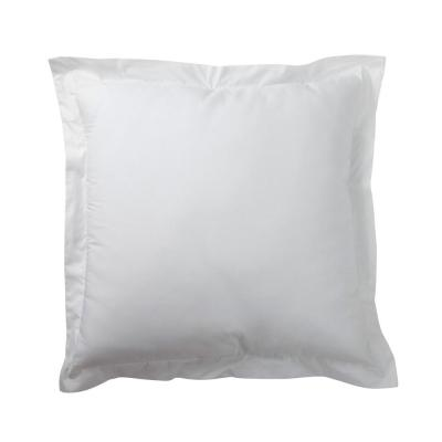 Organic White Solid 200-Thread Count Cotton Percale King Sham