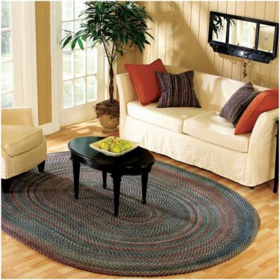 Cage Graphite 5 ft. x 8 ft. Braided Oval Area Rug