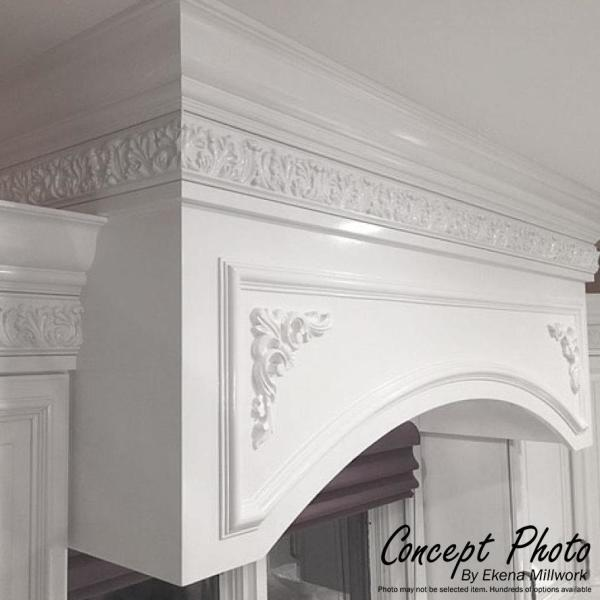 Ekena Millwork 2 3 8 In X 2 5 8 In X 94 1 2 In Polyurethane Marseille French Scroll Crown Moulding Mld03x02x04ma The Home Depot