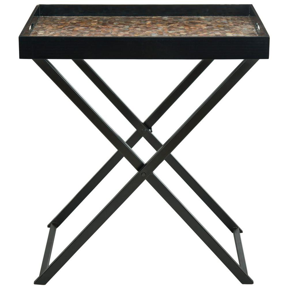 Abba Brown Tray Side Table