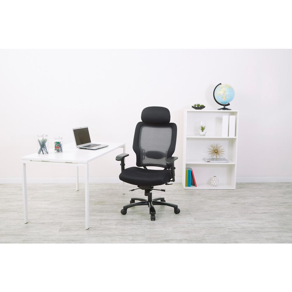 Space Seating Big and Tall Black AirGrid Back Office Chair