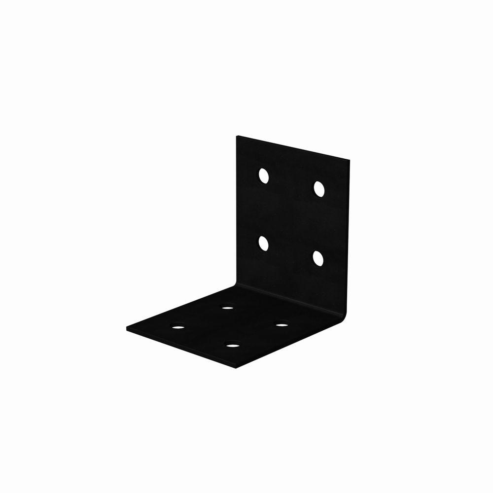 Simpson Strong-Tie HLPC 5 in. x 5 in. Black Powder-Coated Ornamental Heavy Angle