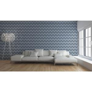 Mitchell Black Debut Collection Bikini Martini in Blue/Grey/White Removable and Repositionable Wallpaper by Mitchell Black