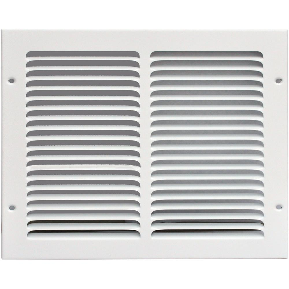 14 in. x 10 in. Return Air Vent Grille, White with
