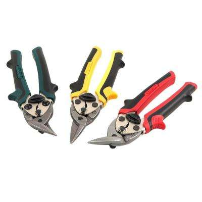 7 in. Compact Aviation Tin Snips Set (3-Piece)