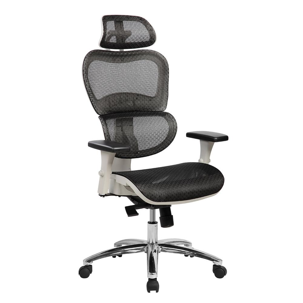 Black Deluxe High Back Mesh Office Executive Chair with Neck Support