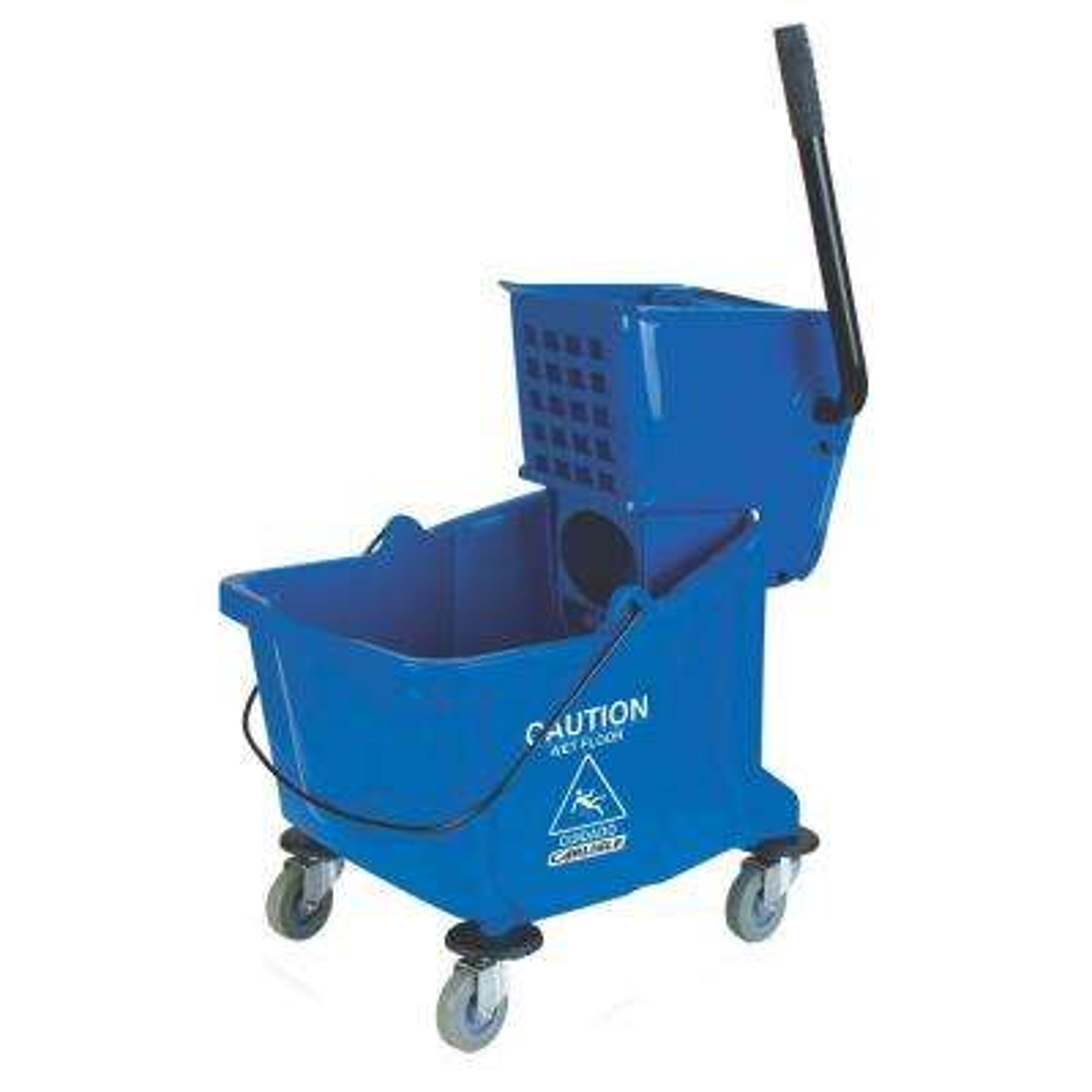 35 qt. Blue Wringer Mop Bucket
