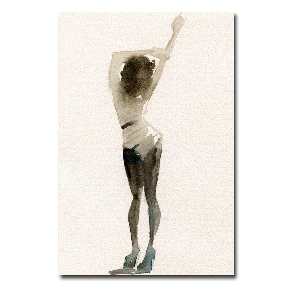 Trademark Fine Art 22 in. x 32 in. Black and White Striped Leotard Canvas Art-DISCONTINUED