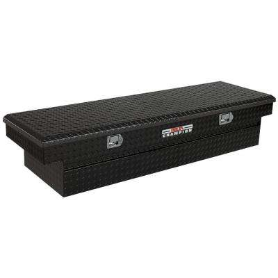 70 in. Aluminum Single Lid Full Size Crossover Tool Box with Gear Lock in Black