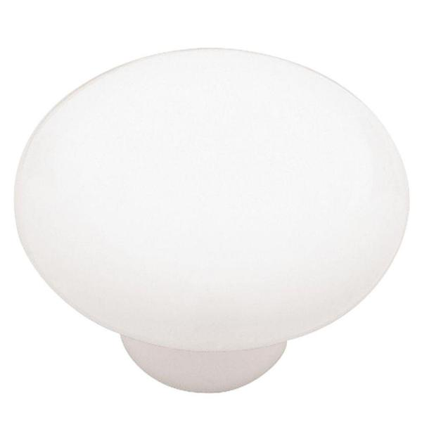 Classic Ceramic 1-1/2 in. (38mm) White Round Cabinet Knob