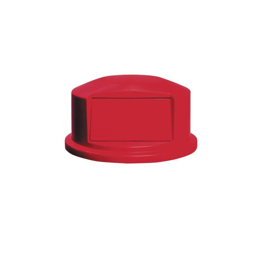 Brutr 44 Gal. Red Round Trash Can Dome Top Lid