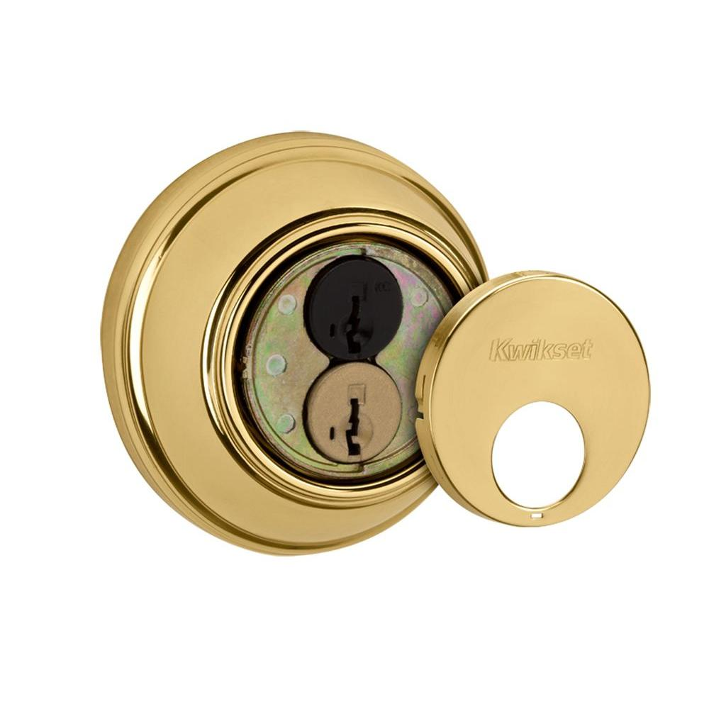 816 Series Single Cylinder Polished Brass Key Control Deadbolt featuring