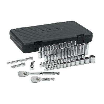 3/8 in. Drive 12-Point Socket Set (57-Piece)