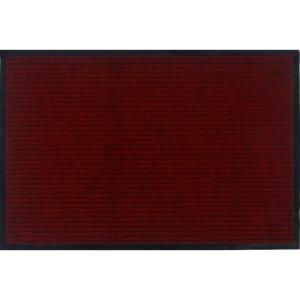 Otto Grip Collection Red 18 in. x 30 in. PVC Backing Solid Indoor/Outdoor Doormat